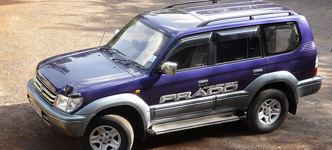 4WD-Prado for hire