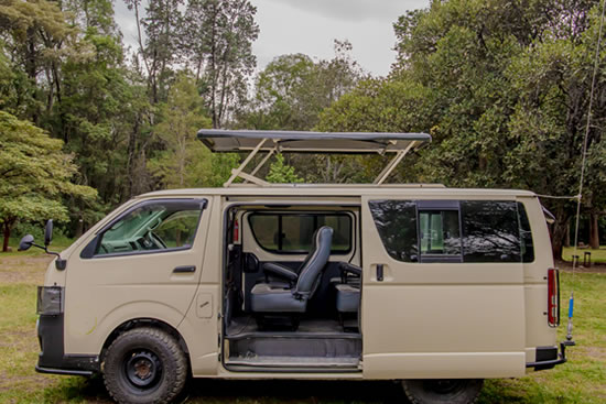 4x4 Mini-van in East Africa