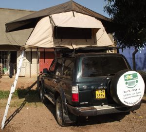 Diesel Land Cruiser with a Rooftop Tent